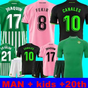 19 20 21 Real Betis Football Jersey JOAQUIN Boudebouz MANDI BARTRA Tello GARCIA canales édition commémorative de pied adulte maillot manches courtes + ENFANTS