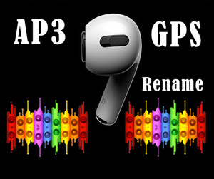 H1 chips AP3 Prós auscultadores Rename GPS tws fones de ouvido pro Smart Sensor da pressão de carregamento sem fio sensor de chip de w1 PK AP2 i12 i500 i200