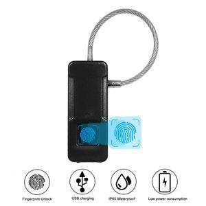 Bag Lock Mini Portable Fingerprint Lock Smart Intelligent Outdoor Bag Handbag Anti Theft Lock Protection Excellent Recognition T191029