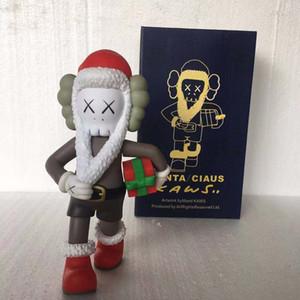 Orijinal Kutusu KAWS Eylem Şekil modeli süsleri oyuncak hediye için Yeni Gelenler KAWS Companion bebek 28cm 0.8kg Noel Baba tarzı