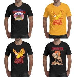 Moda Uomo stampa Lynyrd Skynyrd Free Bird roccia maglietta gialla shirt Design Superhero Collegio dammi indietro la mia proiettili Band Peter fatti