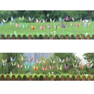 100PCS 정원 마당 화분 나비 스테이크 잠자리 장식 나비