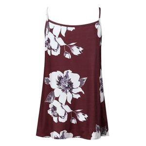 Women Pregnant Nusring Maternity Sleeveless Straps Ruffles Print Floral Tops suit with a skirt for pregnant women nursing top42H