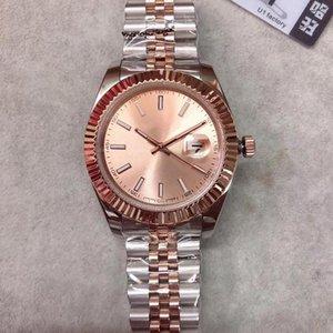 2020 U1 fábrica de la alta calidad de los hombres S reloj de la fecha de la serie M126333 de oro rosa Dial reloj de oro de zafiro superior de la manera de los hombres S de pulsera mecánicos