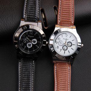 2019 Yeni Alevsiz Şarj edilebilir USB Çakmak Saatler masculino Saat relógio Çakmak Erkek Kuvars saatler kol saati