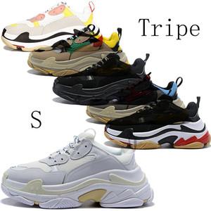 Papá de los zapatos de lujo para mujer S 17FW Callos Comfort Shoes Casual para hombre estilo de vida diario Skateboarding Shoe Haga las zapatillas de deporte estrella Viejo Deportes chaussures