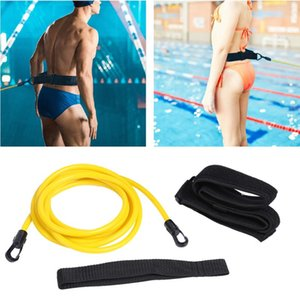 Adjustable Swim Training Resistance Belt Swimming Exerciser Safety Elastic Rope Latex Tubes Adult Kids Swimming Pool Accessories
