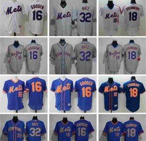 2019 2020 venda quente personalizado Homens Mulher Kids newyorkmets Jersey 32 Steven Matz 18 Darryl Strawberry 16 Dwight Gooden Baseball Jersey