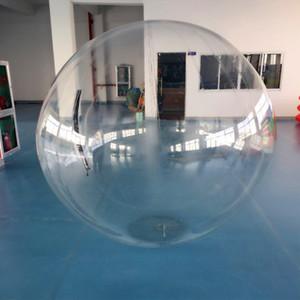 Envío gratis de calidad superior 1.5 m PVC Water Walking Ball Bola de agua gigante Zorb Ball Ballon Zorb Ball inflable de agua para juego de baile