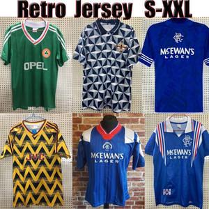 Top Thaïlande Rétro Soccer Jerseys Ireland 90 92 94 Irlande du Nord 90 93 Glasgow Rangers 92 94 96 97 Chemises de football de football Jerseys Vintage