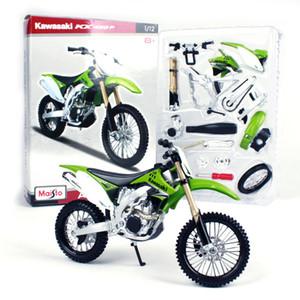 Maisto Diecast liga DIY Monte Motorcycle Toy Model, Kawasaki KX 450F, escala 1:12, Ornamento para Kid Xmas Presente do menino, Coleção, Decoração