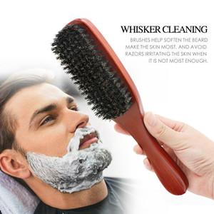 100٪ النقي الخنزير brisle beard brush مع مقبض الرجال شارب الشارب مشط تصفيف الشعر إغاظة فرش