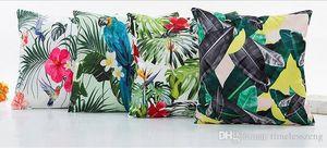 Hawaii Floral Tropical Impresso Zipper Pillowcase Praça Simulation Silk Digital Printing Pillow Case New Arrivel Capa de Almofada