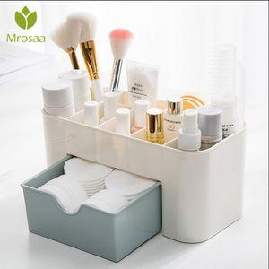 Multifonction bureau en plastique de bureau Organisateur tiroir bijoux cosmétiques cas Coton Holder Maquillage Organisateur Boîte de rangement T191218
