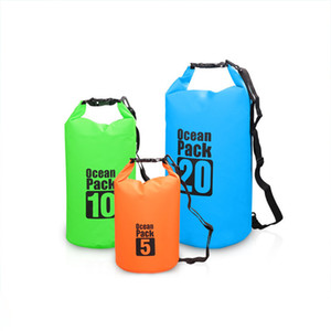 Outdoor Tactical Waist Packs Travel Unisex Waterproof Beach Storage Drifting Dry Pouch PVC Camping Packs Hiking Tactical Backpacks