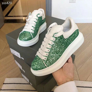 New Women 2020 Fashion Luxury Designer shoes Red Bottoms Sneakers Athletic shoes Sports Trainers Skateboarding Low Sneaker Size 35-40