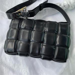 Factory Outlet cassette sponge bag leather handbags diagonal plaid pillow women shoulder bag womens luxury designer bag