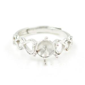 fábrica especial de abastecimento acessórios de anel grosso S925 prata pérola personalidade feminina Silver Ring montagens acessórios PS4MJZ061