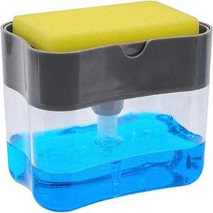 1 مجموعة الاطباق فرشاة وعاء قطعة أثرية الصحافة والسائل صندوق الإسفنج مسح الجمع التلقائي السائل أداة تنظيف إضافة