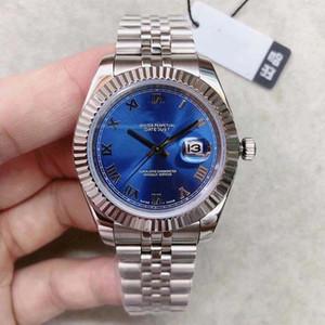 2019 U1 factory New Blue Roman Digital DAYDATE Moda di alta qualità 316L Uomo automatico Grande orologio da regalo classico Superficie blu zaffiro
