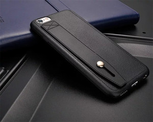 Wristband leather bracket mobile phone case applicable to apple 11 protective case iphone11promax all covered with soft plastic shell