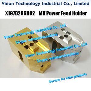 X197B296H02 edm Latão 22.5x25x45mm de suporte de alimentação de energia para Mitsubishi DWC-MV1200S, MV2400S máquina X197-B296-H02, 266990 base de alimentação de energia para MV
