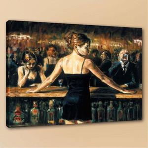 Barkeeper von Fabian Perez Handpainted HD Printed Porträt-Kunst-Ölgemälde auf Qualitäts-Segeltuch-Wand-Kunst-Ausgangsdekor Multi Size P181