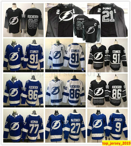 2019 New Black Alternate Tampa Bay Lightning 27 Ryan McDonagh 9 Tyler Johnson 77 빅터 헤드 만 86 Nikita Kucherov 91 Steven Stamkos Jerseys