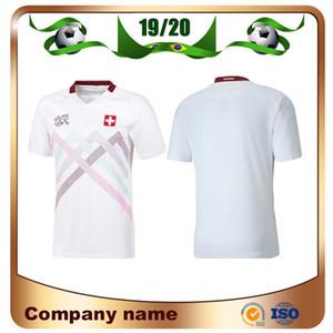 2020 European Suiza Soccer Jersey 19/20 de distancia Akanji Zakaria Rodriguez Elvedi Camisa de fútbol Nacional Uniformes de fútbol