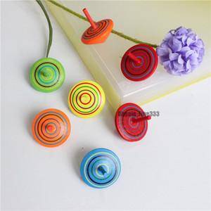 Legno Top Gyro bambini giocattoli divertenti 6 colori a caso i bambini adulti Stress Relief Desktop Spinning Top Articoli da regalo Giocattoli di compleanno dei capretti di Natale