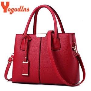 Yogodlns Famous Designermarken Taschen Frauen Handtaschen aus Leder 2019 Luxuxdamen Handtaschen-Geldbeutel-Mode Schultertasche V191209