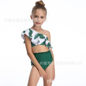 Swimsuit Swimsuit Dividir Printing Quarto Individual cintura alta Bikini vôo Borda Girls' 2020 Trade Crianças especiais