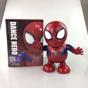 Enfants jouets électriques Musique électronique Lumières de danse Iron Man Wasp Spider Man Robot Jouet Modèle