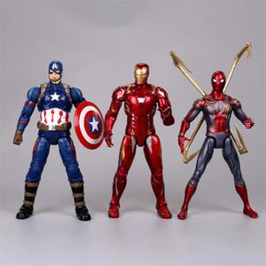 marvel avengers action figures toys 16 designs PVC iron man spiderman thanos hulk anime figure avengers toys with box Kids toys JJSS237