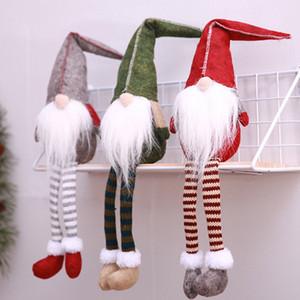New Christmas Cute Sitting Elf a gambe lunghe Festival Cenone di Capodanno Decorazioni natalizie per la casa