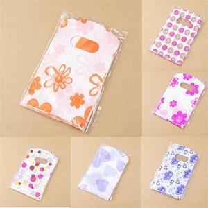 Bolsas de embalaje de plástico con asa Bolsas de regalo pequeñas 14X9 CM Bolsa de regalo de plástico de envoltorio de regalo para boda Favor de fiesta