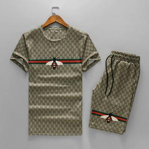 2020 fashion mens Tracksuit designer Tracksuits Men Sports Suit Letter printing Slim Hoodies Clothing designer t shirt+short pants suits