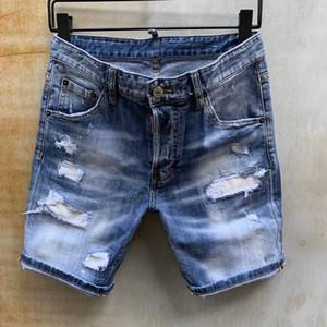 2020 Hot Vendre Mode Eté Hommes Denim court CoolGuy Jean Broderie Pantalons Jeans Button Holes Hommes Pantalons 2010