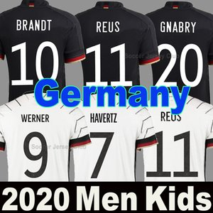 2020 كأس أوروبي ألمانيا ألمانيا لكرة القدم jerseys away black HUMMELS KROOS football shirt 20 DRAXLER REUS MULLER GOTZE Men Women Kid Kit