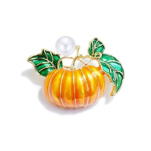 Delicate Pumpkin Brooch Female Brooch Creative Decoration Painted Card Pin Needle Coat with Emblem Simple Fashion Free Postal Delivery