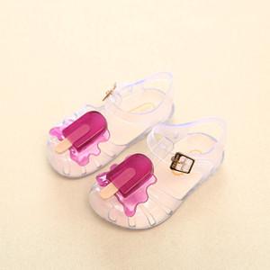 Yeni Mini Melissa buzlu şeker Kız Jelly Sandalet buzlu şeker Dondurma Bebek Sandalet Çocuk Sandalet Kız Su Ayakkabı Y200103