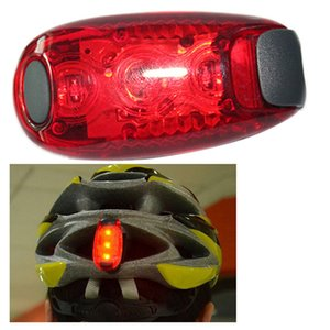 Bike Cycling Lights Super Bright 3 Led Bike Light Taillight Safe Lamp Warning Mountaineering Backpack Helmet Run