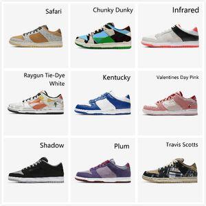 Nike Air Max Retro Jordan Shoes formadores Hot SB Dunk causual branco sapatos masculinos mulheres sb dunks baixo Raygun Tie Dye VALENTIM Skateboarding tênis