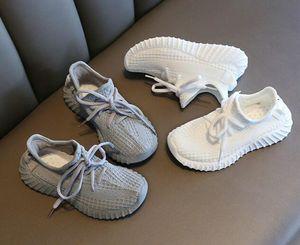 2020 autunno nuova ragazza scarpe traspiranti in cocco Moda Flying Weaving Leisure Shoes per ragazzi WL908