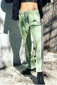 IGNELERI X AWGE Moda Sweatpants kısa sürede ROCKY Kelebek İşlemeli Yan Çizgili Erkekler Kadınlar Uzun Pantolon Pants High Street İpli