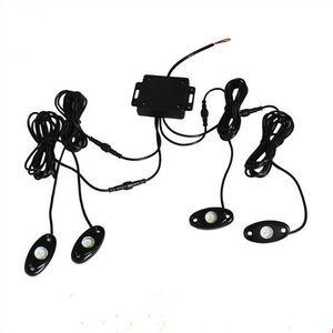 10 комплектов 9w High Power 9 -30v Mini Bluetooth 4 Бобы Cree Led Rgb Rock Light Kit для Под автомобиля Грузовик автомобилей Сув Diy