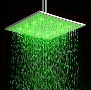 التحكم في درجة الحرارة أوروبا نمط شعبي RGB WATER GLOW الرش رش رأس دش LED التلقائي صنبور الحمام