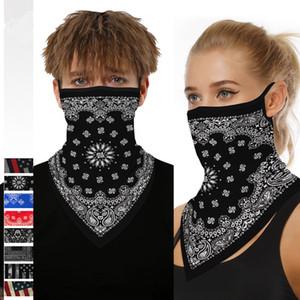 3D amerikanische Flagge Muster Radfahren Masken Schal Unisex Dreieck Bandana Schal Kopftuch Gesichtsmaske Outdoor Radfahren Stirnband CCA12109 50pcs