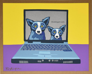 George Rodrigue Blue Dog bluedogart Com Home Decor Handwerk / HD-Druck-Ölgemälde auf Leinwand-Wand-Kunst-Leinwandbilder 200116