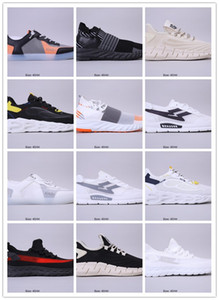 New 2020 Chaussures Low Top Retro Breathable Running Shoes Triple Black White Designer Mens Women Sneakers Knit Air Cushion Trainers Zapatos